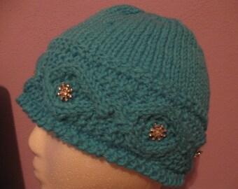 Snowflake Women's Knit Hat pattern PDF file