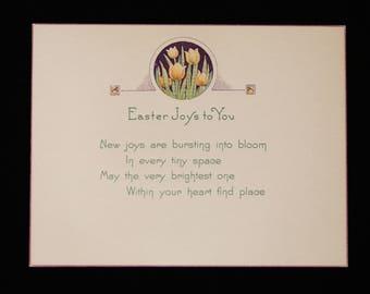 Vintage Easter Card, Antique Easter Card, 1920s Easter Card, 1920s Greeting Card, Vintage Easter Greeting Card, Vintage Easter Decor, Easter
