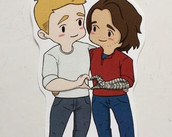 Steve and Bucky Sticker