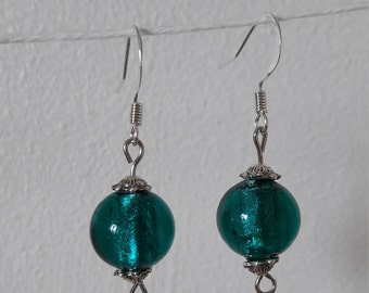 Dangling EARRINGS, blue, mother's day