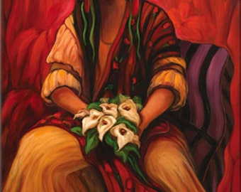 "Maria Sharylen, ""Mexicali Bride"" Stretched Canvas Giclee' Reproduction"