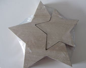 Wood with removable part star - size: 21.5 cm x 2, 5 cm wide