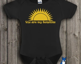 You are my sunshine, cute baby bodysuit, baby girl or boy clothing, by BlueFoxApparel *13
