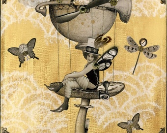 Pilz Fairy Steampunk Print