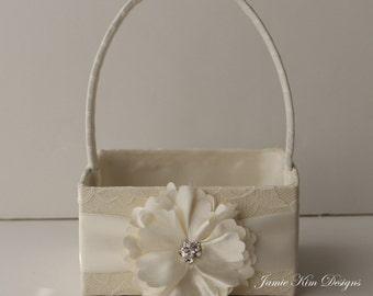 Flower Girl Basket only - (Custom Made)