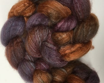 Spinning Fibre Bluefaced Leicester & Silk hand dyed superwash (E03)