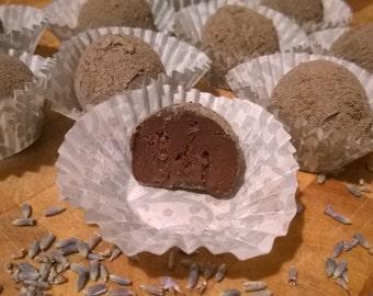 Lavender Blueberry Milk Chocolate Truffles