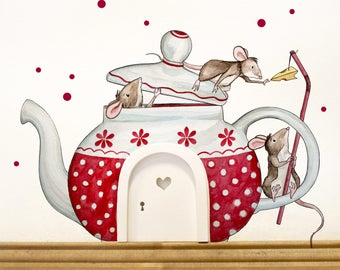 Elfentür with Wall decal mouse teapot E11