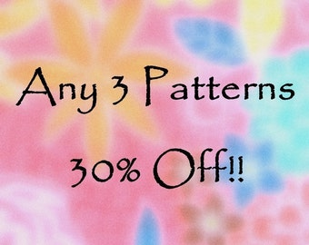 PDF Sewing Instructions  Choose Three get 30 percent off