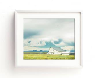 "colorful landscape photography, wall art, large art, large wall art, farmhouse decor, farmhouse wall art, barn wood, prints  ""Vintage White"""