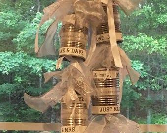 Anniversary Decorations - Silver - Golden - Diamond - Anniversary Tin Cans