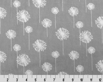 Premier Dandelion Cuddle in Silver and Snow from Shannon Fabric