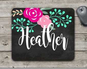 Mouse pad   Custom Mouse Pad   Monogram Mouse Pad   Mother's Day Gift   Office Gift   Employee Gift   Home Office   Office Decor