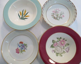 Vintage Mismatched China Dessert / Fruit Bowls for Tea Party,Bridal Luncheons,Showers,Hostess Gift,Bridesmaid Gift, Berry Bowls-Set of 4