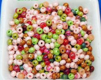 Cherry Blossom Seed Bead mix size 6 NEW 4mm you receive 50 grams of beads
