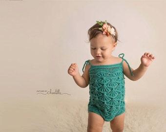INSTANT DOWNLOAD - Crochet Pattern Mermaid Maddie Romper