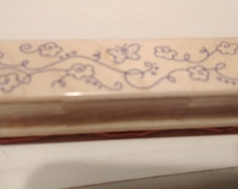 Retired Rubber Stamp  -   Flowers and Butterflys  Border