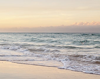 Australian Beach Print - Seaside Photography - Burleigh Heads - Home Decor - Wall Art - Fine Art Print - Nature - Sunset