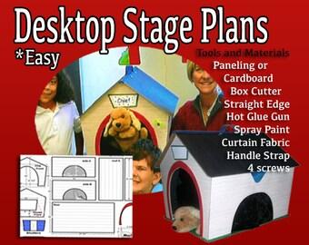 Easy Desktop Puppet Stage Plans