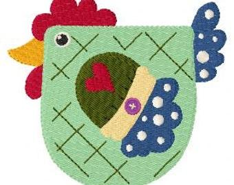 Chicken Machine Embroidery Design