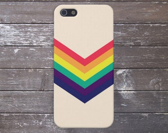 Chevron Rainbow Phone Case, iPhone X, iPhone 8 Plus, Protective iPhone Case, Galaxy s9, Samsung Galaxy Case, Note 8, CASE ESCAPE