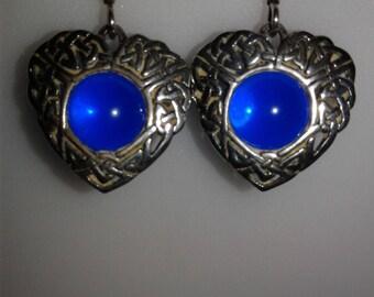 Sterling Silver Celtic Heart earrings (E02)