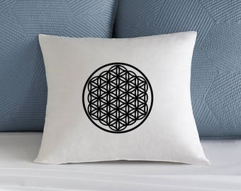 Flower of Life Iron-on, Heat transfer Sacred Geometry, Black Vinyl Flower of life, Flower of Life cushion iron-on, Transfer, Decal, Gold,
