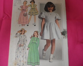 Simplicity 77954 Girls Dress Pattern Size 7 & 8