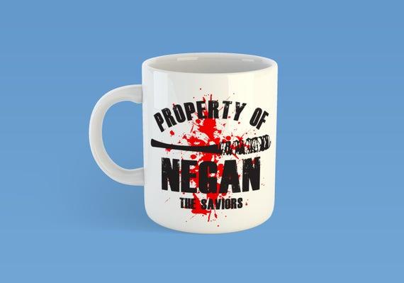The Walking Dead Property Of Negan Custom 11oz Coffe Mug TWD