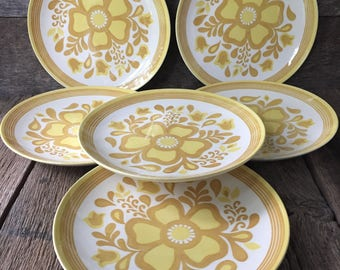 "SALE - Damsel Ironstone - 10"" Dinner Plate - by Royal China - Set of 6"