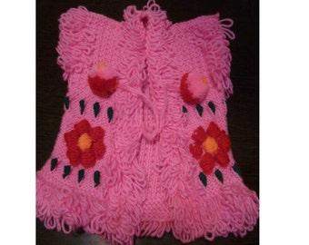 Сhildren's vest  for girls - length 31 cm