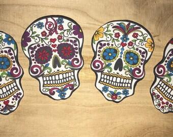 Sugar Skulls Fabric Sew-On Appliqué