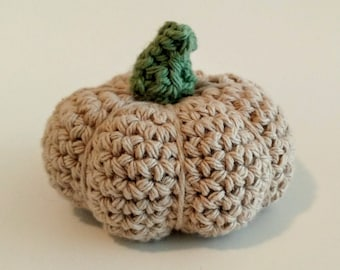 Natural Jute color Pumpkin, medium, crochet