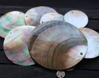 10pcs Black Mother of Pearl Shell Round Pendants  - natural mother of pearl beads - MOP beads for jewelry design(BK1020)