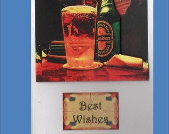 Anniversaire pensant de bière vous 3d ou la pyramide de cartes - cartes Masculine - livraison gratuite aux Etats-Unis