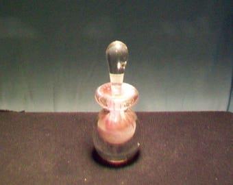 Shorter Cranberry White Perfume Bottle