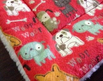 DOG pet bed mat crate pad SALMON color Flannel -  PROFITS Benefit Animal Rescue Group