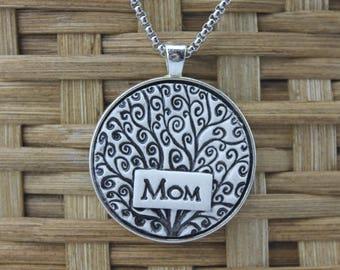 Mom Handmade Pottery Necklace