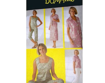 Sewing for Dummies, Capri Pants, Top, Dress, Shirt, Jacket, Women's Casual Separates Pattern, Misses Size 6, 8, 10, 12 Uncut Simplicity 5642