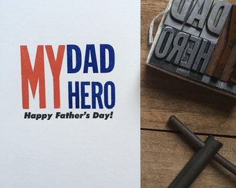 Letterpress typeset card - Father's Day