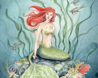 Little Mermaid 7x10 Art Print