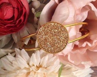 Sparklet Gold cuff bracelet