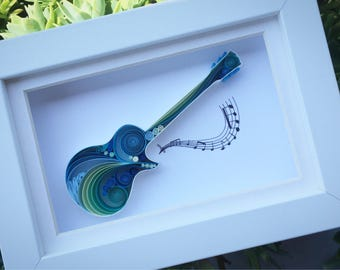 Gibson Les Paul Quilling Art - Gift for Mother, Gift for Father, Guitar Wall Art, For Her, For Him, Gibson Les Paul Art and Collectible