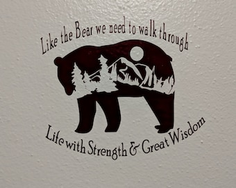 Bear Large Wall Decal