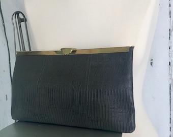 Vintage Leather Etra Handbag/Clutch