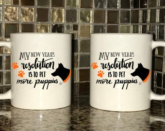Mug - My New Years Resolution Is To Pet More Puppies