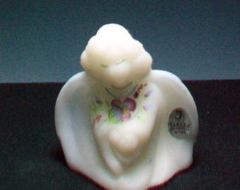 Fenton Hand Painted Gaurdian Angel Signed