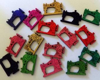 14 Colourful Sewing Machine Button -  #SB-00158