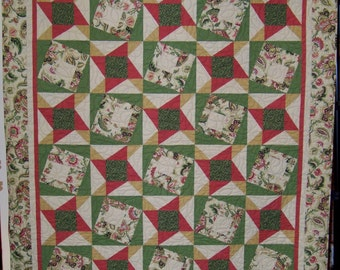 """Stars & Squares Lap or Wall Quilt - 64"""" x 56"""""""