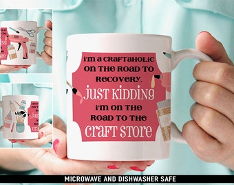 Coffee Mug Crafting Junkie Coffee Mug - Gift For Crafter - Funny Crafting Coffee Mug